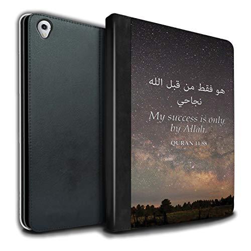 Stuff4® PU-Leder Hülle/Case/Brieftasche für Apple iPad Pro 9.7 Tablet/Erfolg Nur Bei Allah Muster/Islam Koran Vers Kollektion