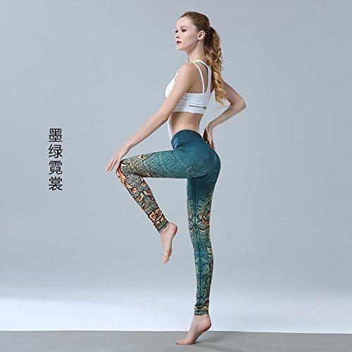 JIALELE Pantalon Yoga Pantalones De Yoga Girl Sello Apretado De Secado  Rápido Transpirable Elástica Ejecutando Deportes Pantalon 6c60411cc23b