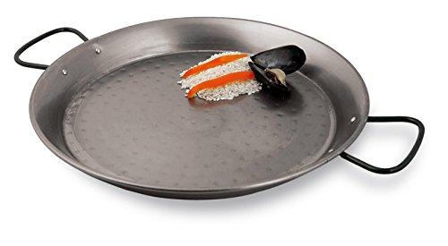 Paderno World Cuisine Paella-Pfanne, polierter Karbonstahl, 33,8 cm 15 3/8in grau - Paderno Carbon