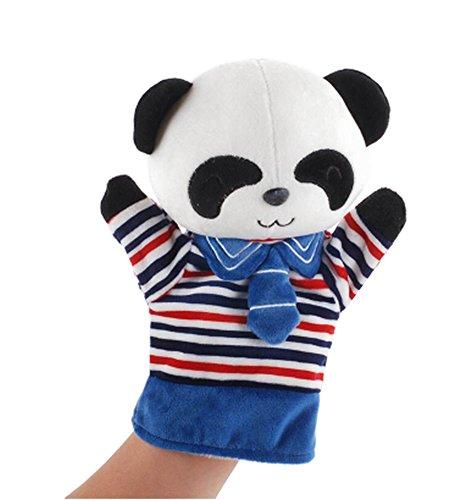 Weicher Plüsch nettes Animal Babies Children Handpuppe Spielzeug Panda Blau