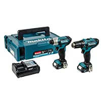 Makita CLX201AJ 10.8v CXT 2 Piece Kit with 2 x 2.0Ah Batteries, Charger in a Makpac case