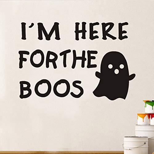 Ich Bin Hier Für Das Inspirierende Zitat Wandaufkleber Lustige Halloween Fenster Aufkleber Abnehmbare Vinyl Wandtattoos Für Kinderzimmer