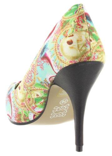 Iron Fist, Scarpe col tacco donna multicolore Multicolore (multicolore)