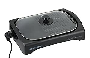 Black & Decker LGM70 2200-Watt Open Flat Grill Machine (Black)