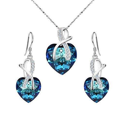 clearine-donna-parure-gioielli-925-argento-nuziale-cz-infinito-amore-cuore-delloceano-ornata-con-ore