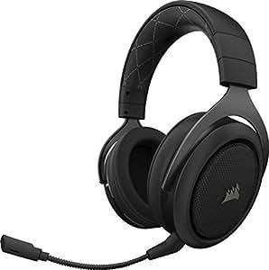 Corsair HS70 Wireless Cuffie Gaming 7.1 Surround Sound, con Microfono Staccabile, per PC/PS4, Carbonio