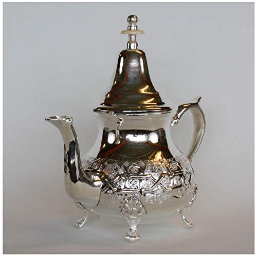 Casa Moro Marokkanische orientalische Teekanne Elfassi 0,8l   Kunsthandwerk aus der Stadt FES...