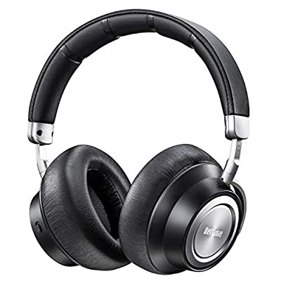 Active Noise Cancelling Headphones, Boltune 2019 Upgraded Bluetooth Headphones with Microphone/Deep Bass Wireless Headphones Over-Ear, Protein Earpads 30H playtime for Travel Work TV PC Cellphone