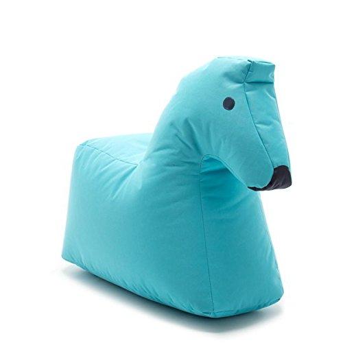 Sitzsack Pferd LOTTE Happy Zoo, blau