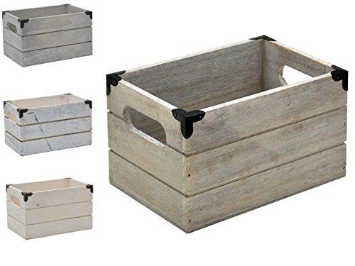 Caja Madera Rectangular 12x20x13cm Esquina Metal 4 Surtido A Elegir 1