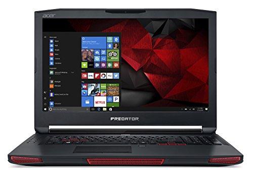 Acer Predator 17 X GX-792-73D3 17.3-Inch 4K Gaming Notebook - (Obsidian Black) (Intel Core i7-7820HK, 16 GB RAM, 1 TB HDD Plus 256 GB SSD, 8 GB NVIDIA GeForce GTX 1080 Graphics, Windows 10 Home)