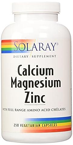 Calcium, Magnesium, Zink, 250 Veggie Caps - Solaray