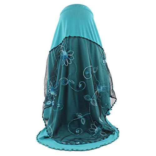 Committede Damen Gesichtsschleier Schal Turban Damen Mode Frauen Lange Feste Schal Mesh Weicher Schal Halsschmuck Umschlagtücher Kopftücher Frauen Islamische Kopfbedeckung Haartuch