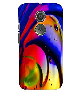 ColourCraft Beautiful Drawing Design Back Case Cover for MOTOROLA MOTO X2