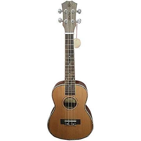 HONSING® 24 Tono ukulele del palo de rosa de pino superficie inferiorpulgadas de alta escuela 4MM ABS tono blanco de punto UK-244 (Color madera)