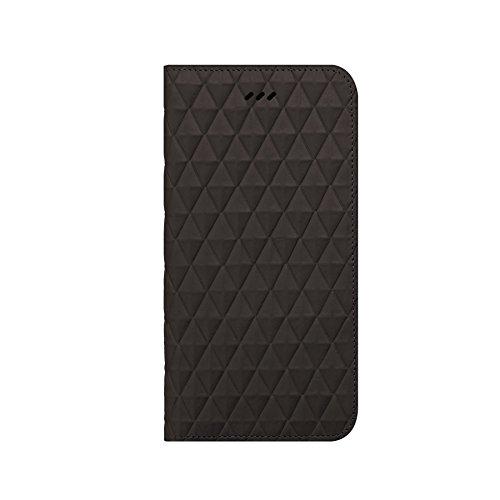 iPhone 6S Schutzhülle, araree® [Diamant Cube] Premium Echt Leder Diamant Pattern Wallet Case Flip Cover Mit ID Halter für Apple (2015) Dunkelgrau
