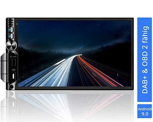 Tristan Auron BT2D7019A Android 9.0 Autoradio I 7\'\' Touchscreen Bildschirm I mit Navi GPS I Bluetooth Freisprecheinrichtung I Quad Core USB SD OBD 2 DAB+ - 2 DIN