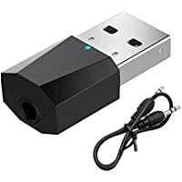 Longsw USB Wireless Bluetooth 3.5mm Audio Stereo Receiver for Car AUX Speaker Headphone