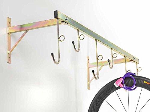 Porte-vélos mural pour 6places démontable avec anneaux