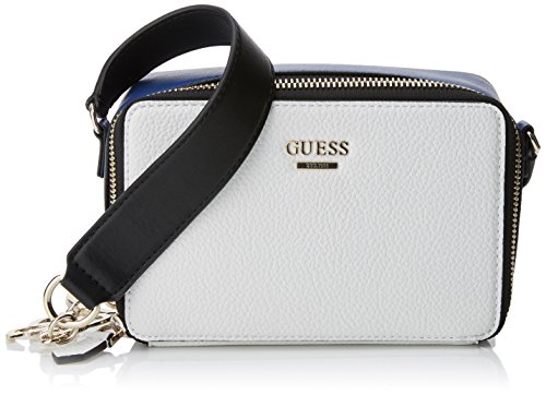 Guess Damen Bags Hobo Umhängetasche, Mehrfarbig (White Multi), 6.5x12x18.5 centimeters