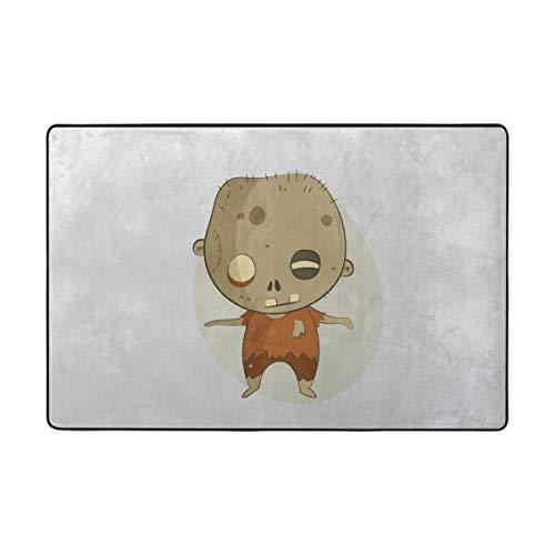 MALPLENA Spooky Halloween Zombie Eintrag Way Fußmatte Fußmatte Bereich Teppich Teppich Fußmatten Schuhe Schaber für Wohnzimmer/Esszimmer/Schlafzimmer/Küche Rutschfeste, Polyester, 1, 36 x 24 inch