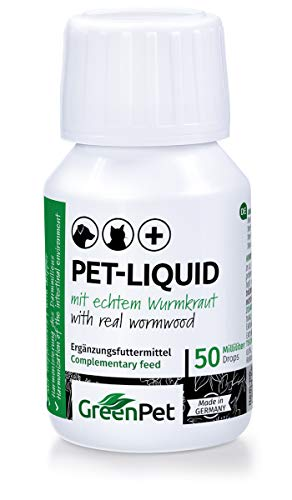 GreenPet Pet Liquid Desparasitación Anti Gusanos. Apto para perros, gatos y aves.