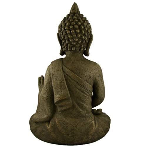 Stein Buddha Antik massiv Steinfigur - 3