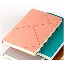 JxucTo Creativo Cuero de LA PU Cubierta suave Diario personal Cuadernos escolares y diarios Libros de papel para la Oficina de la escuela (Rosa)