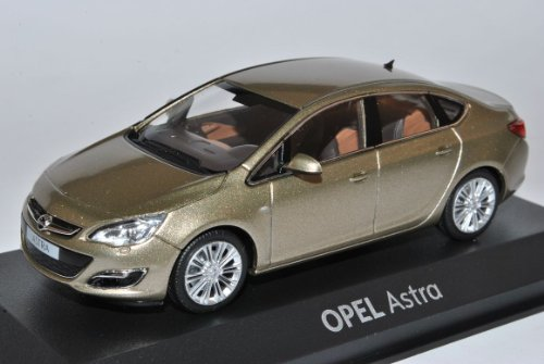 Opel Astra J Limousine Gold Ab 2012 1/43 Minichamps Modell Auto