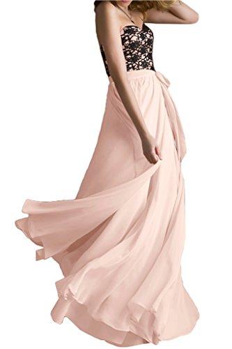 Victory Bridal - Robe - Trapèze - Femme Rose/noir