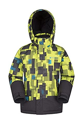 Mountain Warehouse Veste de Ski Slope Imprimée Enfants Vert citron