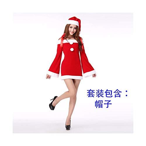 n Kostüm Weihnachten Kostüm Weiblichen Cos Rot Santa Claus Kostüm Kleidung ()