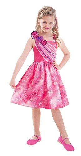 Amscan 997546 - Kinderkostüm Barbie und die geheime Tür Extra, circa 5 - 7 Jahre, Größe 116, pink