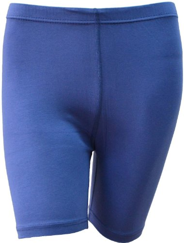 LADIES STRETCHY COTTON LYCRA ABOVE KNEE SHORTS ACTIVE LEGGING (SMALL, INDIGO BLUE) (Shorts Small Running Womens)