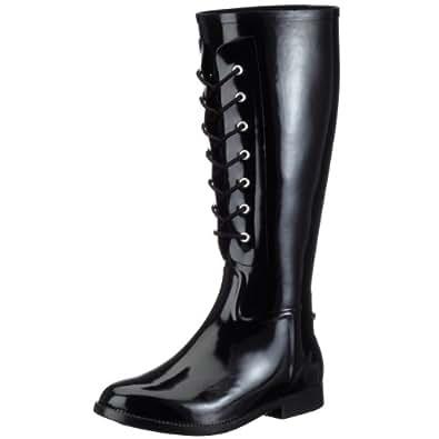 jardy botte cavaliere lacets femme bottes de pluie noir 39 eu chaussures et sacs. Black Bedroom Furniture Sets. Home Design Ideas