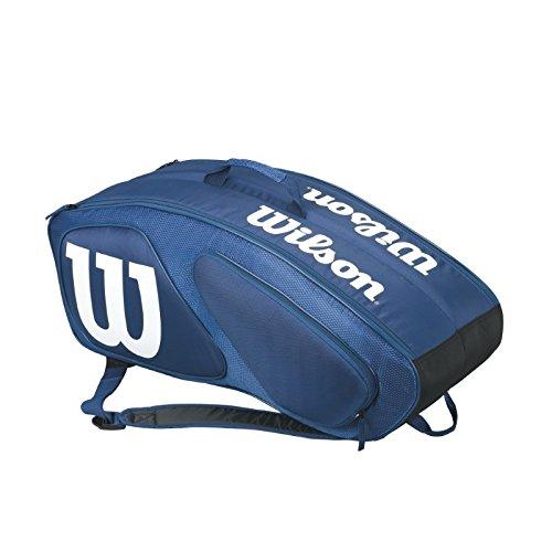 Wilson Schlägertasche Team II 9er Racket Bag, dunkelblau, 76 x 25 x 31.7 cm, 60 Liter, WRZ852609