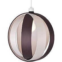 MiniSun - Moderna y divertida pantalla para lámpara de techo 'Cocoon' – marrón chocolate, redonda en forma de globo