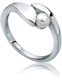 Perlu Damen-Ring 925 Sterling Silber 0610670912
