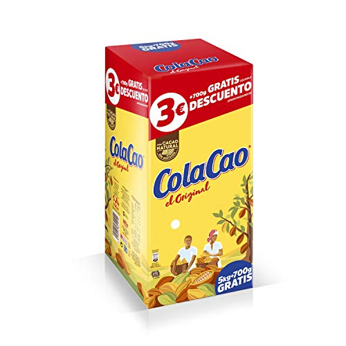 Cola-Cao Original - Cacao soluble, 5 kg + 700 g