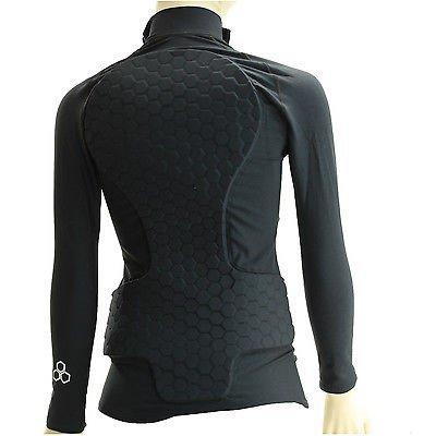 SB101 Damen Black HexPad Snowboard Shirt X-Large (Mcdavid Hexpad Shirt)
