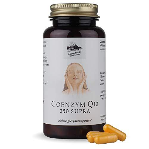 Coenzym Q10 250 Supra - Antioxidans mit Vitamin B3, Selen & Biotin - 150 Stück - Wertvolles Ubichinon & Niacin - Deutsche Premium Qualität - Kräuterhandel Sankt Anton