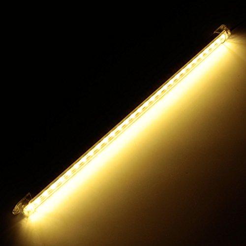 Preisvergleich Produktbild YONGYAO 12V 40Cm Auto Clear LED 5630 SMD Innen Streifen Licht Bar Van Caravan Fisch Tank-Warm Weiß
