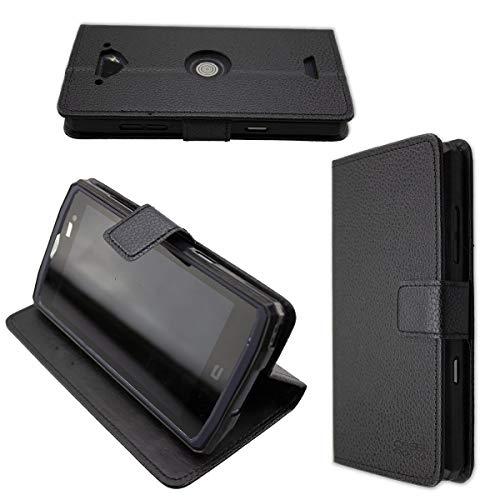 caseroxx Hülle/Tasche Bookstyle-Case Crosscall Core-X3 Handy-Tasche, Wallet-Case Klapptasche in schwarz