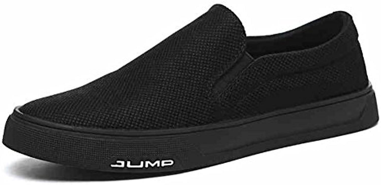 QIDI Freizeitschuhe Männlich Leinwand Trend Modisch Im Freien Verschleißfest Bequem Sportschuhe (Farbe : Schwarz