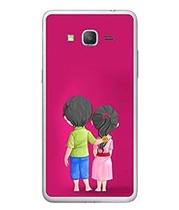 PrintVisa Designer Back Case Cover for Samsung Galaxy E5 (sweet love brother sister rakhi)