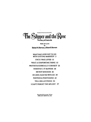 Richard/Robert Sherman: Selections From 'The Slipper And The Rose'. Für Klavier, Gesang & Gitarre