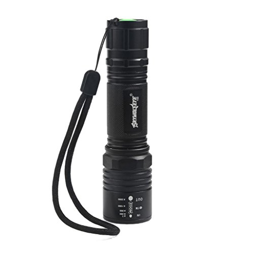 Flashlight,LANDFOX Linterna zoom alta potencia 4000LM