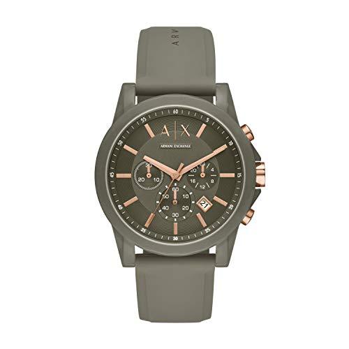 Armani Exchange Herren Chronograph Quarz Uhr mit Silikon Armband AX1341