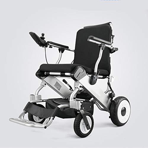 BHXUD Wtian Elektro-Rollstuhl, Leichte Falten Älteren Roller Intelligent Controller Geschwindigkeit Verstellbare Akkulaufzeit 30KM Behinderten Rollstuhl Lithium-Batterie