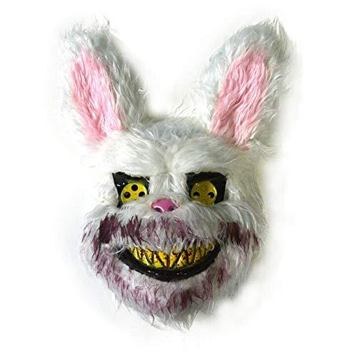 Kostüm Super Kreative Einfach - WEYQ Halloween Kostüm Super Bowl Neuheit Plüsch Braunbär Maske Bloody Rabbit Mask Spezielle Neue Volle Kopf Tiere Nette Feiertage Halloween Ostern 2 STÜCKE,A